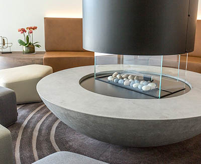 Bespoke concrete domed fire pit | SVC Urban
