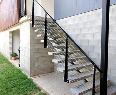 Concrete stair treads and landings are available in beautiful finishes from SVC Products